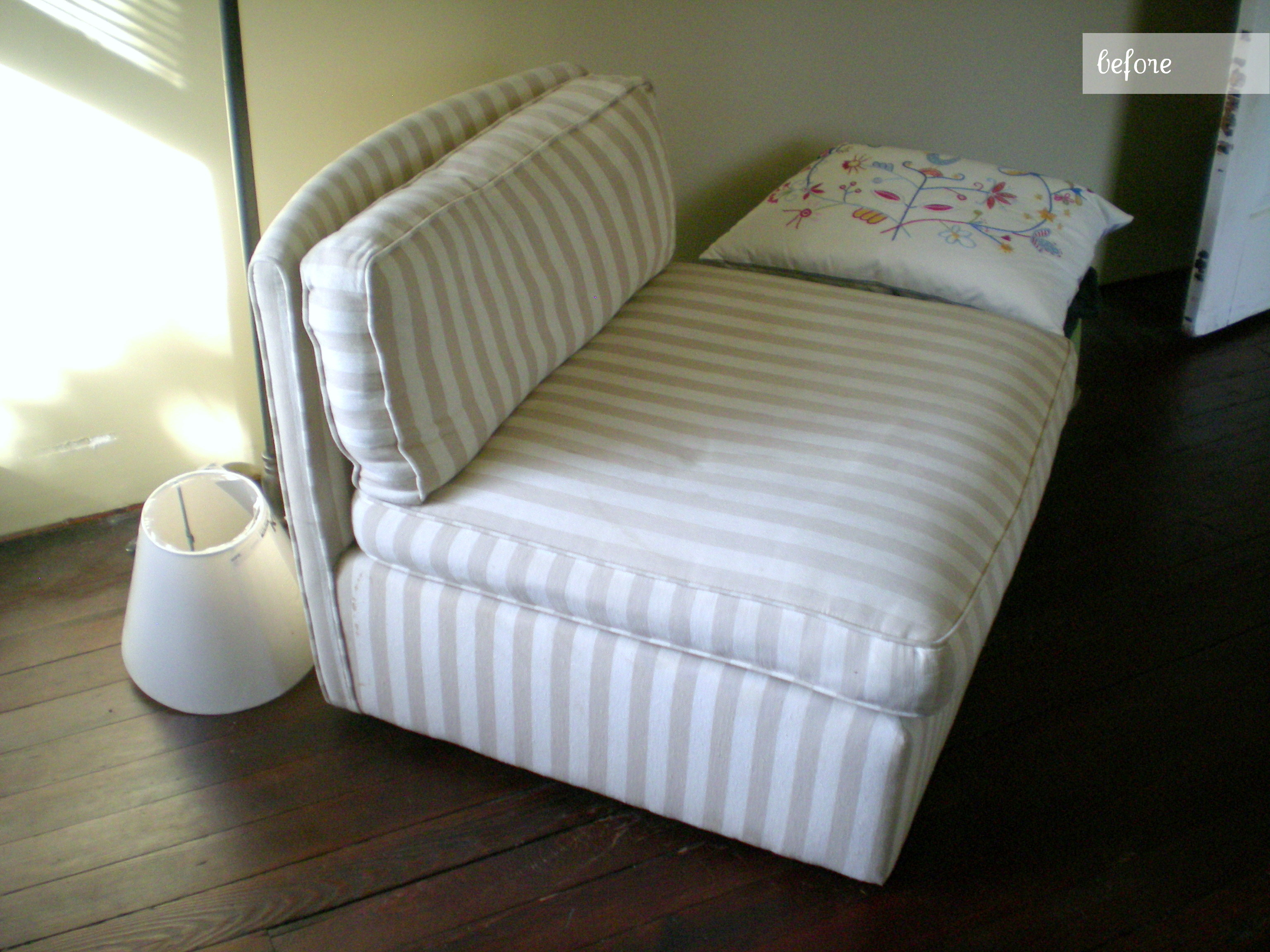 Before and After Slipper Chair Reupholstery Earnest Home co