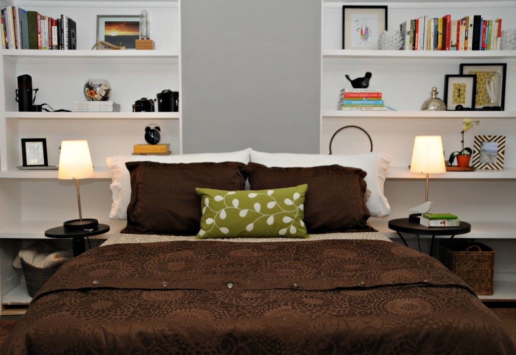 house of earnest - master bedroom shelves - after