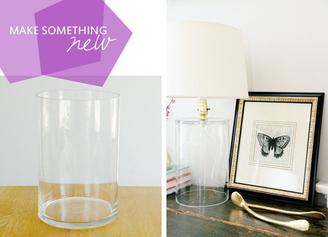 Chic glass lamp from a vase earnest home co what i love most about this project is that it was super low cost 12 for the vase at home goods and 9 for the lamp parts and the possibilities are aloadofball Image collections