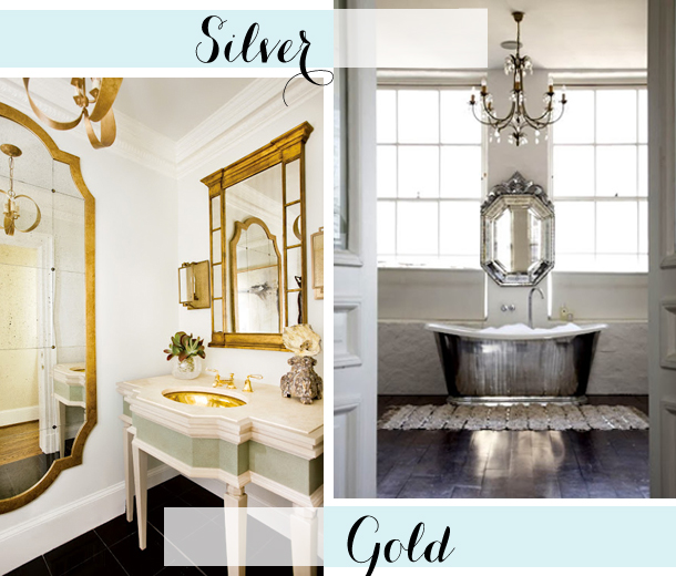 What Is A Powder Room powder room play - silver or gold? - earnest home co.