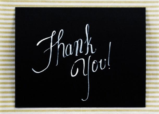 hand written thank you - 2