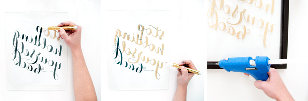 gilded frame workflow