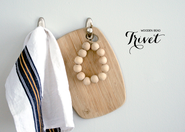 diy trivet with wooden beads easy to assemble