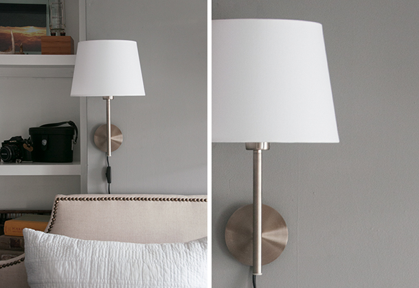Lighting up the bedroom earnest home co bedroom sconce diptych aloadofball Image collections