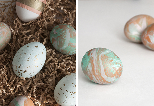 easter egg diptych