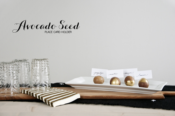 avocado seed placecard holder 3