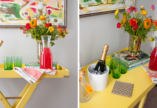 yellow bar cart - house of earnest