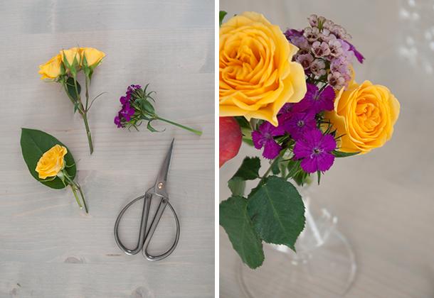 candlestick flower diptych