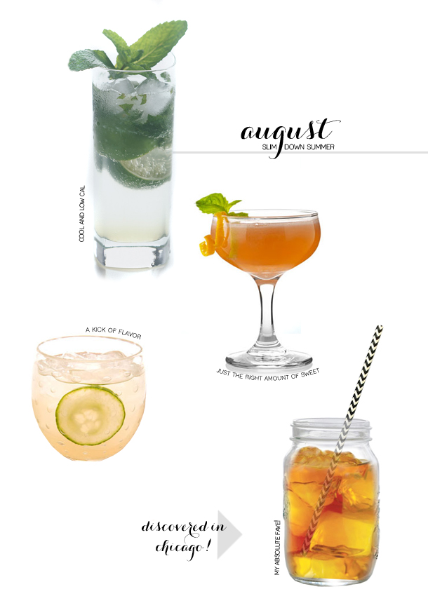 summer drink, cocktail, mixed drink, low calorie, low cal