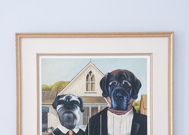 michaels framed oil painting