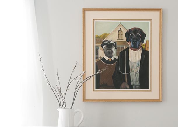 vintage framed oil painting