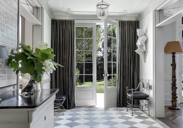 Elegant Front Doors With Curtains