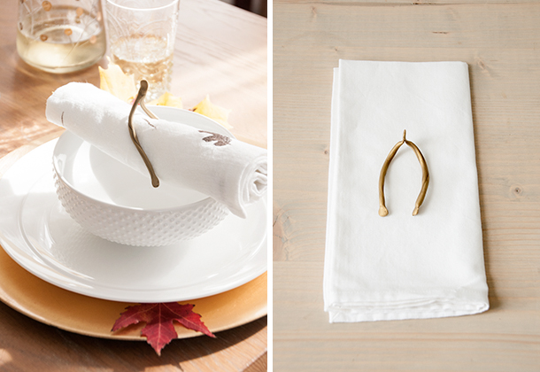 thanksgiving wishbone napkin ring