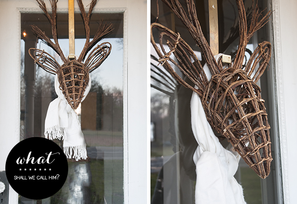 wreath alternative for holiday door