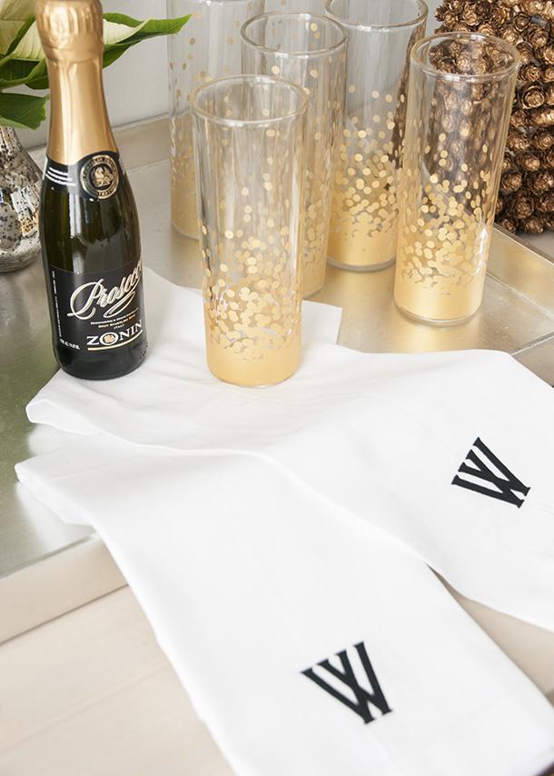 bar towel guest towel monogram