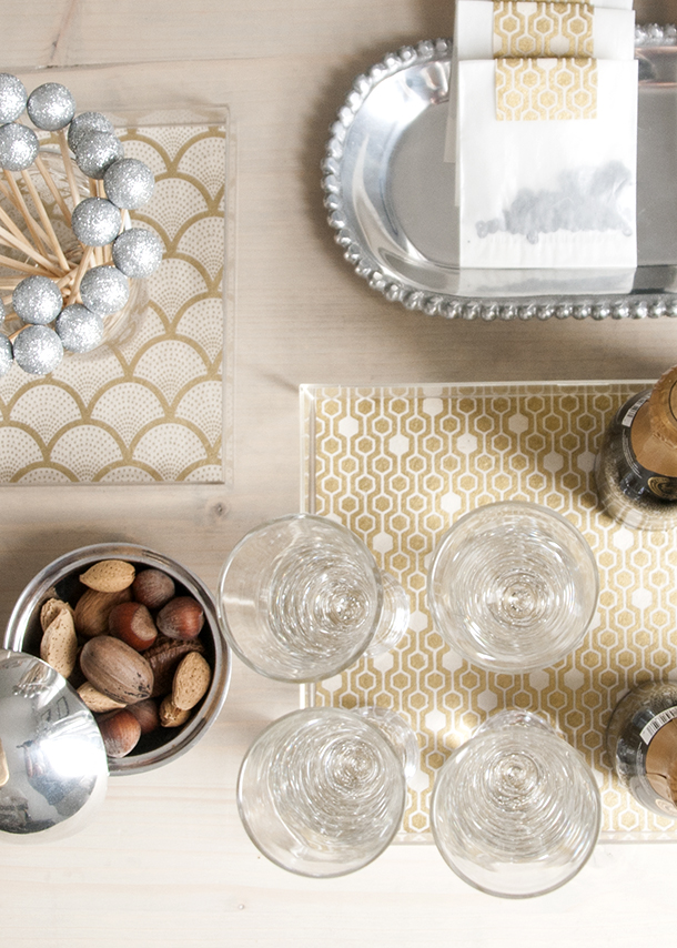 Acrylic Box Tutorial : Quick patterned acrylic trays earnest home co