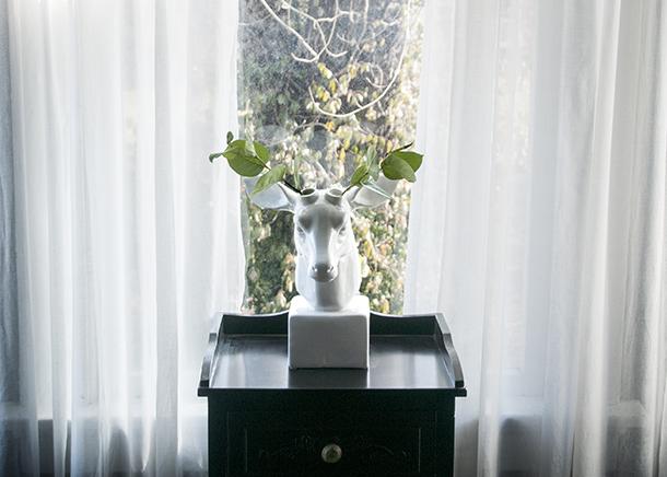 deer antler vase