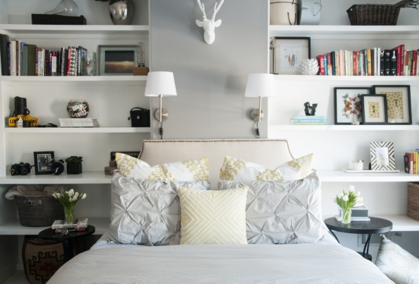 fresh, neutral bedroom