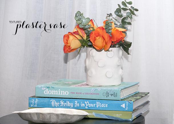 plaster textured vase