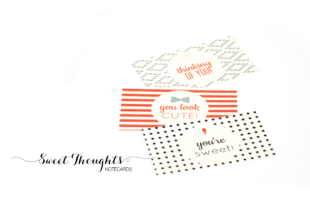 Sweet thoughts notecards mini