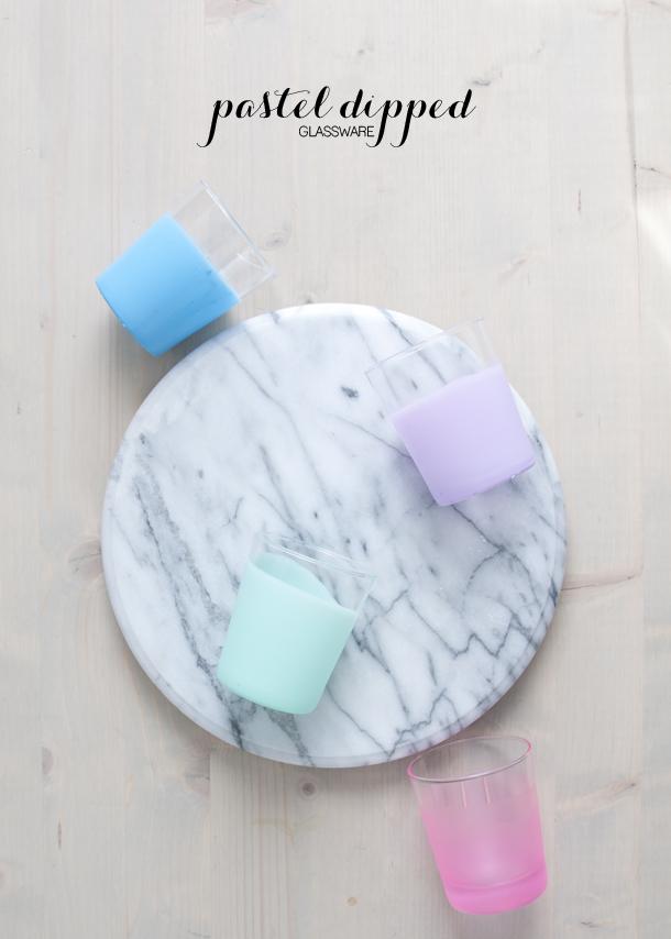 pastel glassware
