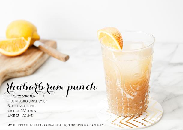rhubarb rum punch
