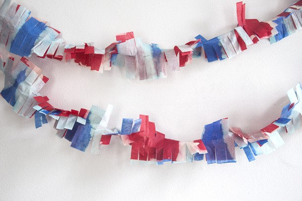 firework party garland