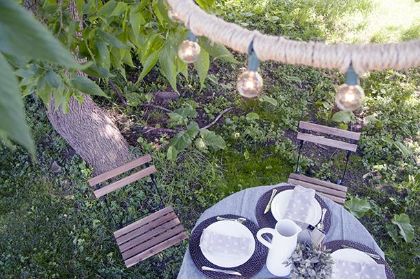 outdoor rope chandelier
