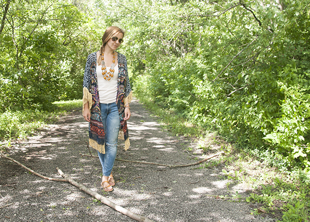 diy fringed kaftan