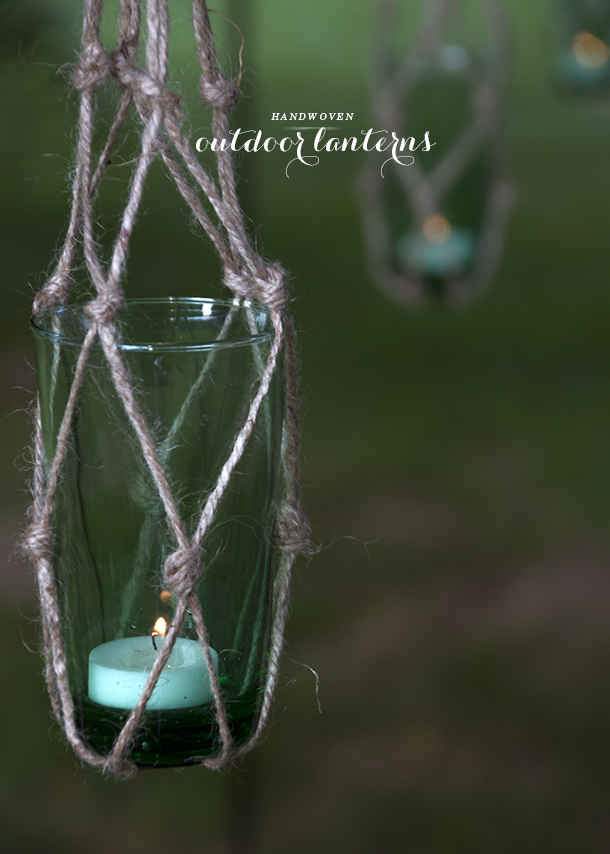 handwoven outdoor lantern diy