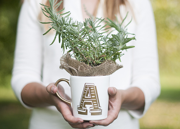 Anthro Inspired DIY Initial Mug