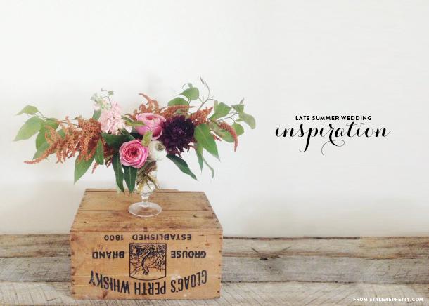 Late Summer Wedding Flowers - Earnest Home co.