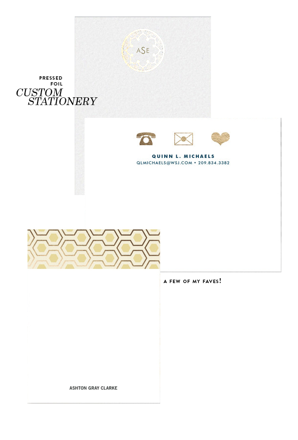 treat yourself - custom stationary copy