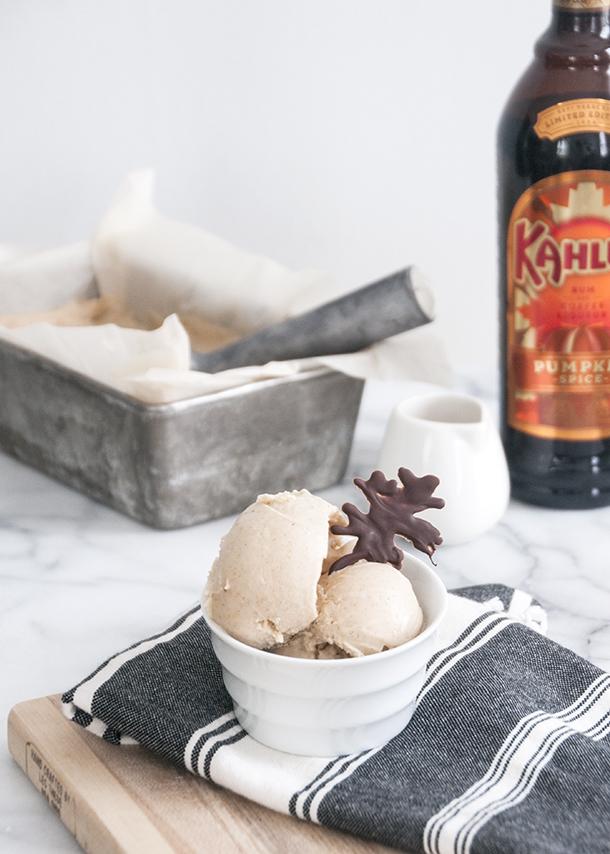 kahlua pumpkin spice icecream