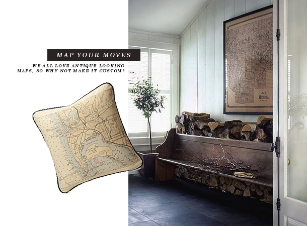 Uncommon Goods-map pillow