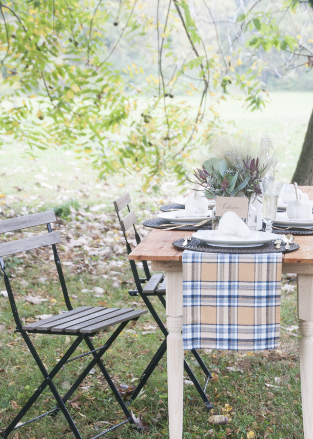 outdoor dinner party fall