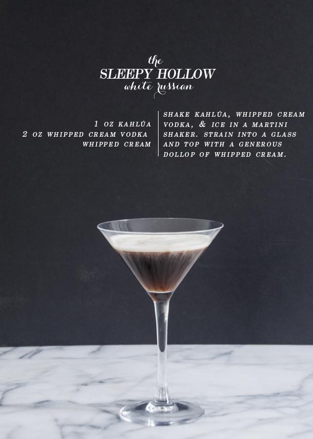 sleepy hollow white russian drink