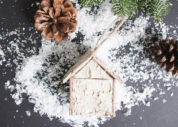 birch christmas ornament