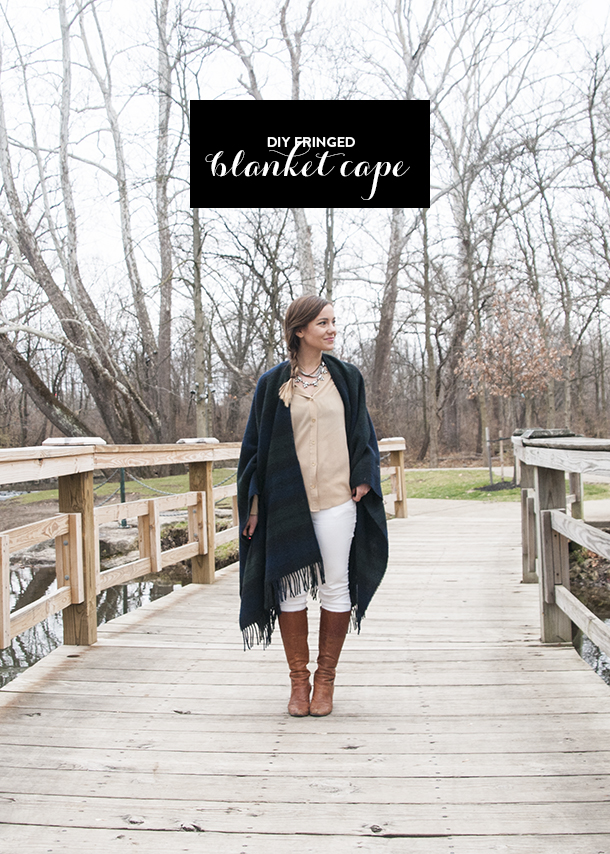 blanket cape diy