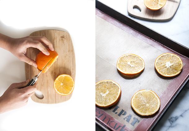 tranches d'orange séchées noël
