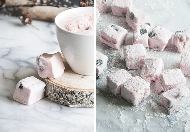 peppermint and chocolate marshmallows
