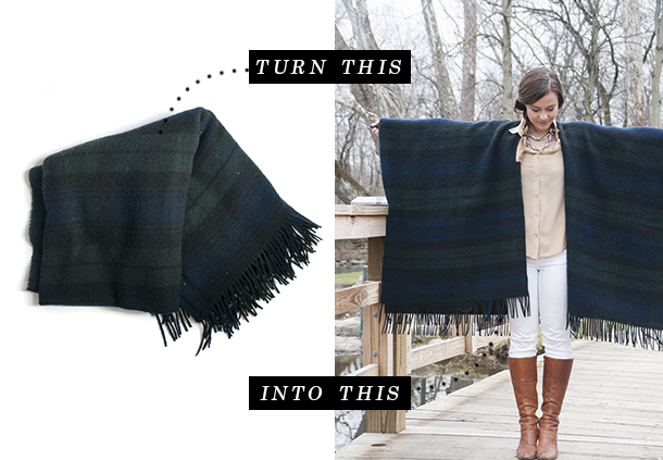 Handmade Holiday: The Blanket Cape - Earnest Home co.