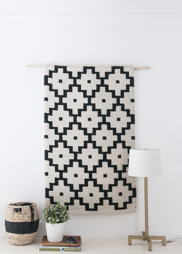 easiest diy woven wall hanging