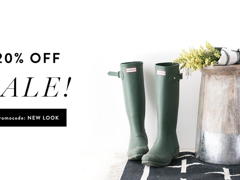 spring 20% sale