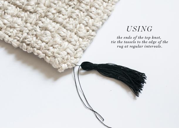 tassel fringe rug tutorial 7