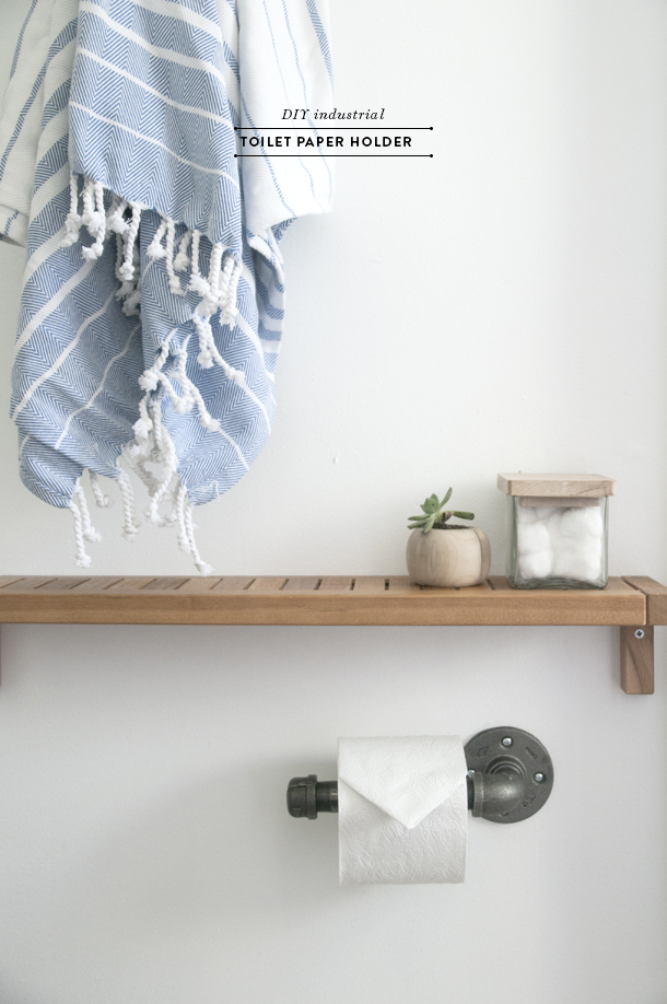 diy industrial toilet paper holder