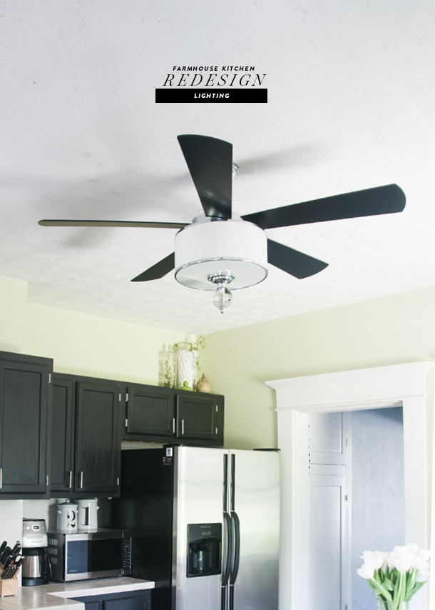 farmhouse kitchen ceiling fan