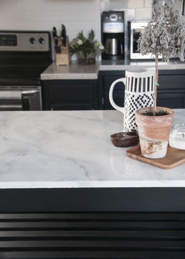 Faux Marble Countertops DIY Earnest Home Co - Fake marble slab