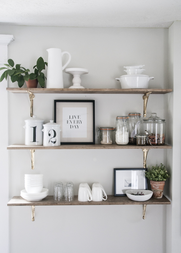 Kitchen Open Shelving Project Earnest Home co