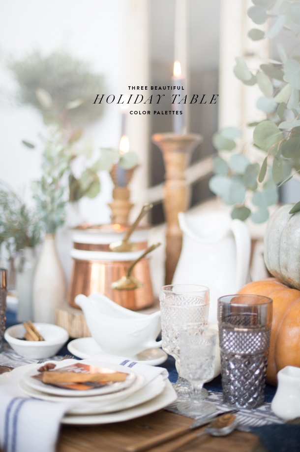 color palettes holiday table decor